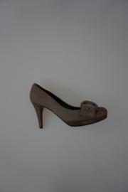 Kennel & Schmenger pump nubuckleer,  hak (9cm) plateauzool (1½cm)  taupe 36