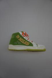 Froxy,sportieve leren sneaker, mid hoog met vetersluiting, stootneus en leer gevoerd, groen  32