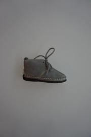 Bardossa veterschoentje, moccasin, leer van binnen, flex zool, geschikt voor een vol voetje grijs leer