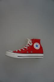 All Star Hi, hoog model canvas, rood 37