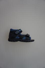 Daumling, gladleren sandaal, dichte hiel, klittenbanden verstelbaar/- sluiting, leer gevoerd, blauw 25