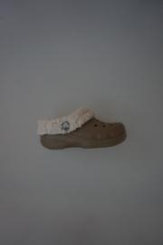 Crocs Mammoth, Model cayman met vachtvoering, lekker warm, beige  maat 29