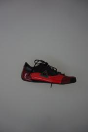 Le Coq Sportif lage sneaker zwart en rood lak leer 38  40