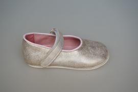 Clic baby schoentjes met soepele zooltje, model mary jane, bandje sluit met klittenband   frosted gold  21