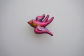 Crocs jibbitz, vogel paars, pink