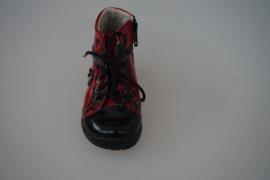 Ricosta hoge veterschoen met rits rood lakleer, leer gevoerd, met rits, rood, zwart  21