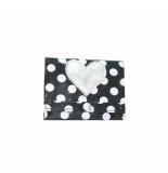 Zebra trends portemonnee, zwart dots