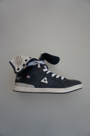 Le Coq sportif, hoge sneaker met veter, canvas, dress blue/white 38