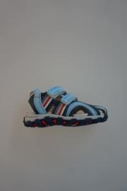 Ciao Bimbi, sandaaltje met dichte neus, leer, klittenbandsluiting, leer gevoerd,  denim blauw 22