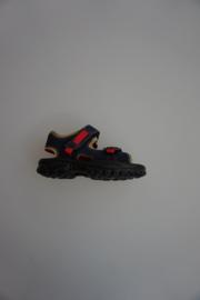 Ricosta/peppino, Nubuck leer sandaaltje, lichtgewicht,  klittenbanden verstelbaar, blauw