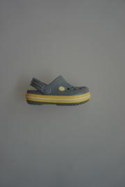 Crocs Kids, crocband, concrete grijs/chartreuse geel, dubbele maten: