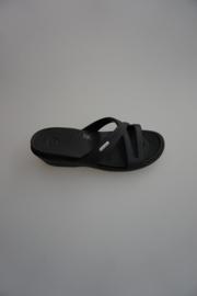 Crocs, Slipper met sleehak, zwart