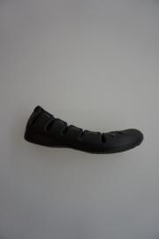 Crocs, ballerina met elastiek, zwart/grijs  41½