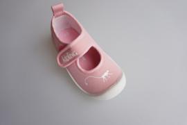 Kipling, rose waterschoentje met klittenbandsluiting en stootneusje, pink/wit  maat 22