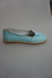 Econfort, espadrille, stof, met los voetbed, aqua, 37