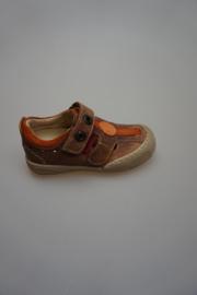 Shoesme, half open schoen, t-band model, leer, leer gevoerd, stootneus, brick