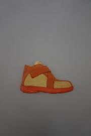 Daumling, leren klittenbandschoen, leer gevoerd, uitneembare zool, geel oranje, 21