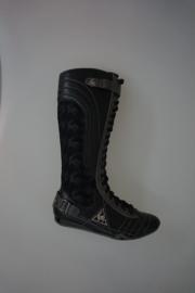 Le Coq Sportif hoge veterlaars in leer en stof, fleece gevoerd, zwart,  36