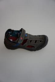 Ricosta, leren open schoen/sandaal, outdoormodel, stootneus, grijs,  33