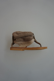Clic sandaal nubuck, taupe, 28 29