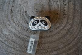 Crocs jibbtiz de luxe, panda zwart wit met strass