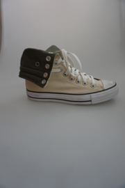 Converse/ CT As Knee Hi, canvas, extra hoog model(kuithoogte) off white/army green