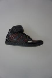 Quick sneaker grijs/bruin lak leer 36