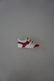 Shoesme veterschoentje wit/rood leer 22