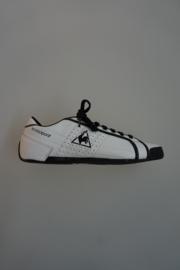 Le Coq Sportif, leren sneaker met zwarte accenten, geen leren voering  40