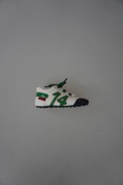 Shoesme veterschoentje wit/blauw/groen leer