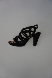 Marco Tozzi sandalet zwart (geen leer) hak 8,5cm