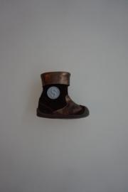 Shoesme laarsje met stootneus bruin/bronze leer