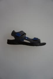 Ricosta, nubuck leer, sandaal met klittenbanden, donker grijs
