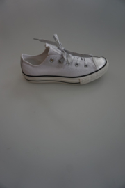 All Star, CT OX, laag canvas, zilveren neus, optisch wit 29 33 36