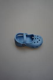 Crocs, bandschoen met 2 bandjes licht blauw,