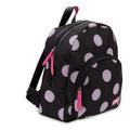 Zebra Trends, rugzak zwart, met glitter dots in soft pink