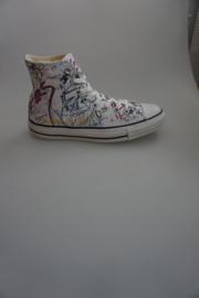 Converse/All Stars, Bathroom Hi, canvas hoog model, wit multi 42 44