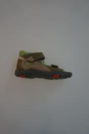 Ricosta leren sandaal met dichte hiel, klittenbanden verstelbaar, leer gevoerd, multi groen/beige