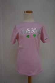 Lelli kelly T-shirt, 100% katoen, rose met pailetten en borduur, maat L