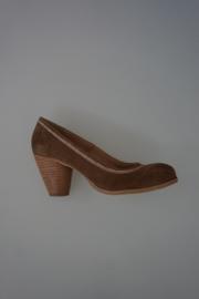 Bronx Pump nubuck hak( 7cm) beige bruin