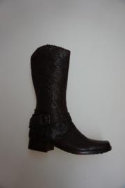 Shoesme, leren laars , leer gevoerd, donker bruin, 31 35