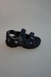 Little David, sandaal, waterschoen, klittenbandsluiting op wreef en achter, navy, valt klein