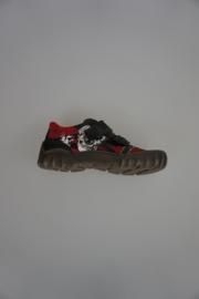 Ricosta klittenband met stootneus rood nubuck 32