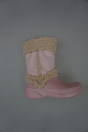 Crocs candy gevoerd roze 34/35
