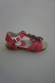 Unisa, nubuck leren sandaal me t strass stenen, candy rose 24 26