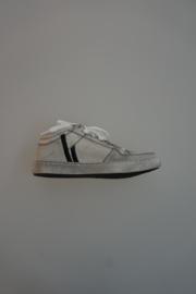 Froxy, leren schoen zonder rits, met veter, leer gevoerd, grijs wit 32
