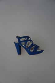 Marco Tozzi sandalet kobalt (geen leer) hak 8,5cm  38