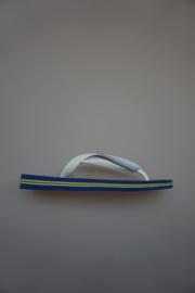 Havaianas, Brasil Logo, wit kobaltblauw