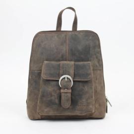 Bear Design, leren rugzakje, dark nature collectie,  donker bruin