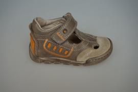 JJ T band schoen/ half open zomermodel schoen, leer en leer gevoerd, beige, met stootneus  20